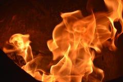 Flames or fire. Bar-b-q behaviour black blazing balefire broil burn campfire close closeup cooking danger dangerous Royalty Free Stock Image