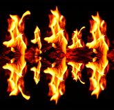 Flames of fire Stock Photos