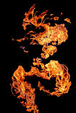 Flames fire developed into a fantastic figure Royalty Free Stock Photography