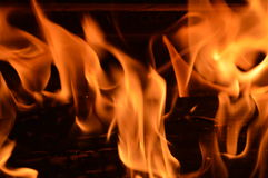 Flames and fire 3. Flames in a fireplace. Home sweet home. Wood burning flames. Wood creaking Royalty Free Stock Images