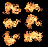Flames of fire Stock Images