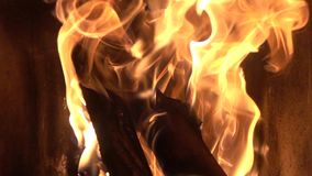 Flames fire in slow motion stock video
