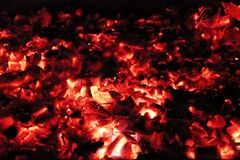 Flames in the fireplace Royalty Free Stock Photography