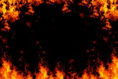 Flames frame background Royalty Free Stock Images