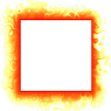 Flames frame background. Digitally rendered vector illustration