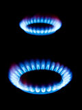 Flames of gas Stock Photos