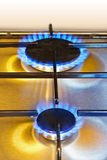 Flames of gas - kitchen stove Royalty Free Stock Image
