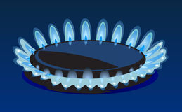Flames of gas Royalty Free Stock Photography