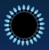 Flames of gas Royalty Free Stock Image