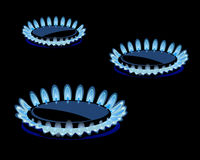 Flames of gas Royalty Free Stock Photos