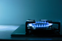 FLames of gas stove Royalty Free Stock Photos