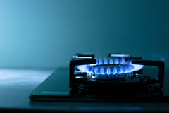 FLames of gas stove Royalty Free Stock Photography