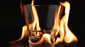 Flames and glass Royalty Free Stock Photography