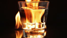 Flames and glass Stock Photography