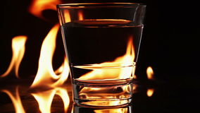 Flames and glass Stock Image