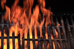 Flames and Grill Stock Photo