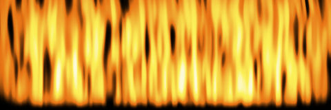 Flames header full 1. Flickering flames over black background banner or header Stock Photo