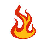 Flames icon over white background Royalty Free Stock Image
