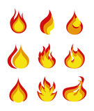 Flames icon. Over white background vector illustration Royalty Free Stock Images