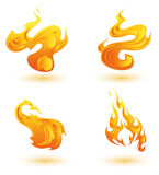 Flames Icons. Abstract flames,fire stylish icon set