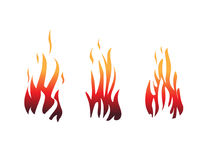 Flames illustrations Stock Image