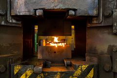 Flames in the incinerator Stock Photos