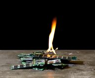 Flames on memory modules Royalty Free Stock Photos