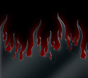 Flames Metallic Royalty Free Stock Photography