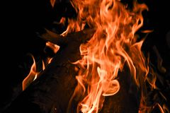 Flames and night royalty free stock photography
