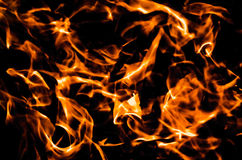 Abstract background of hot flames. Abstract background of hot orange and white  flames on black created by camp fire in Finland Royalty Free Stock Photography