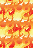 Flames repeat pattern. Vector illustration of flames in a repeat pattern Stock Image
