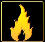 Flames signal. Over black background vector illustration Royalty Free Stock Images