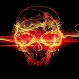 Flames skull Royalty Free Stock Photography