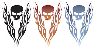Flames and Skull Tattoo Stock Images