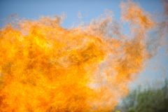 Flames & sky Stock Images
