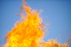 Flames & sky Royalty Free Stock Image