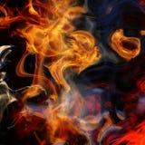Flames and smoke Stock Image
