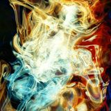 Flames and smoke. Background  - fractal illustration Royalty Free Stock Photos