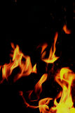 Flames and Sparks Royalty Free Stock Photo