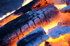 Flames and sparks of a fire as the background Stock Photography