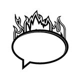 Flames with speech bubble Royalty Free Stock Photos