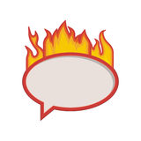 Flames with speech bubble Stock Photography