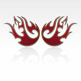 Flames tribal / tatoo Royalty Free Stock Photos