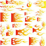 Flames-Vector stock photo
