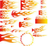 Flames-Vector. An Illustration of many flames - Vector Royalty Free Stock Photo