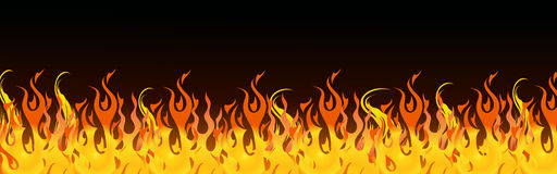 Flames web header Royalty Free Stock Images