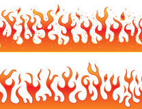 Flames on a white background - continuous curb Royalty Free Stock Photos