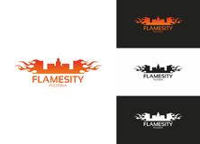 Flamesity Obrazy Stock