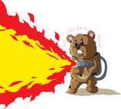 Flamethrower Bear Stock Photography