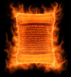 Flaming antique scroll Stock Photos